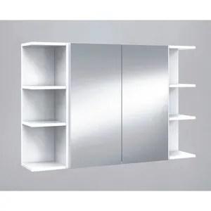 Armoire De Toilette Set De Element Haut De Salle De Bain Avec Miroirs