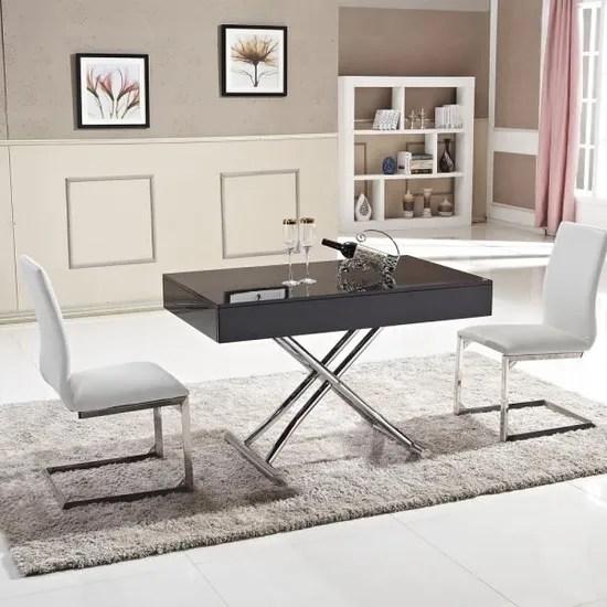 table basse relevable ema laque noir achat vente table basse table basse relevable ema l cdiscount