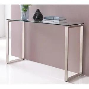 console design verre chrome 120x40 cm