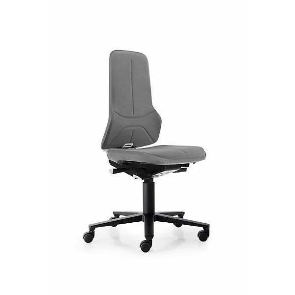 bimos siege d atelier a pietement en aluminium avec roulettes supertec bande flexible grise chaise chaise d atelier chaises
