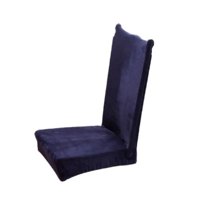 housse de chaise universelle bleu nuit
