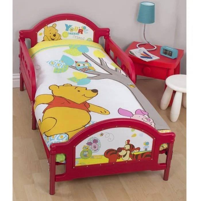 Lit simple Winnie lourson Disney  Achat  Vente ensemble literie Lit simple Winnie lourson