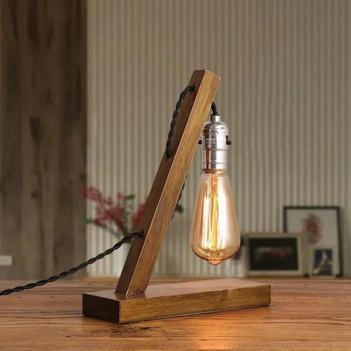 Lampes de table pour salon Loft Vintage E27 Edison ampoule lampe de table lampe de table pour