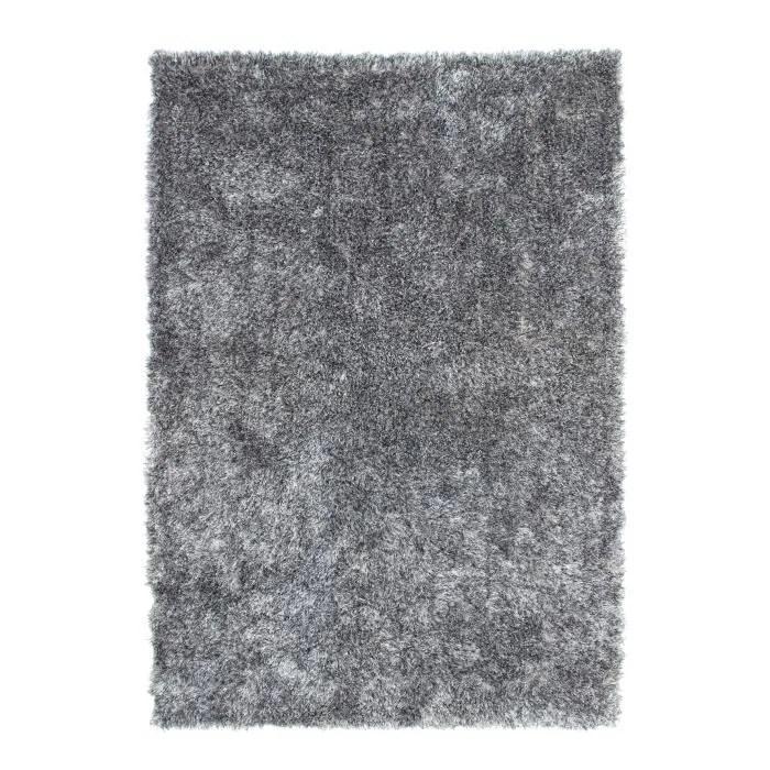 Tapis shaggy uni gris 35 mm 120x170 cm  Achat  Vente tapis  Cdiscount