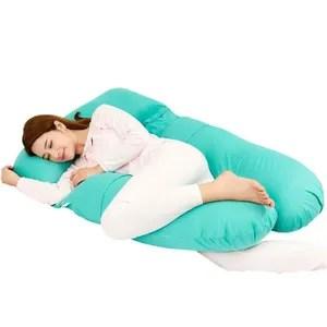 coussin allaitement coussin de maternite oreiller de corps bleu ma