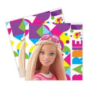 decors de table lot de 20 serviettes barbie deco anniversaire