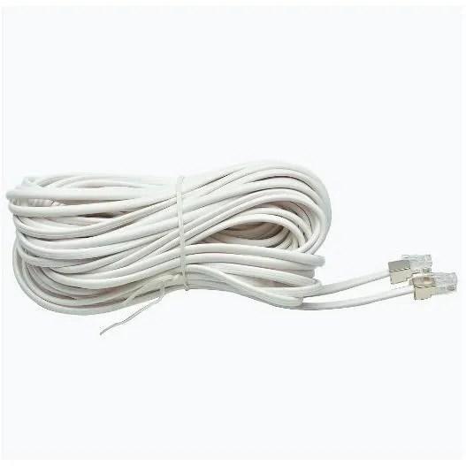 50 pieds de cordon noir Téléphone Extension Cable Ligne