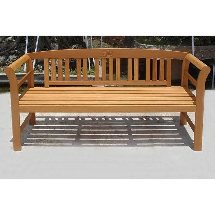 Banc de parc jardin ROSE en bois tropical  Achat  Vente banc dextrieur Banc de jardin bois