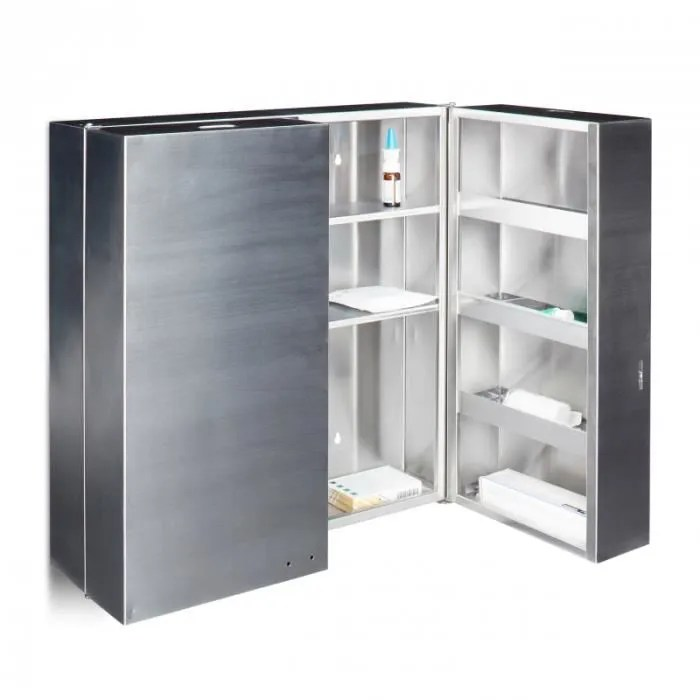 armoire a medicaments pharmacie inoxavec deux cles 53 x 52 5 cm 2013071