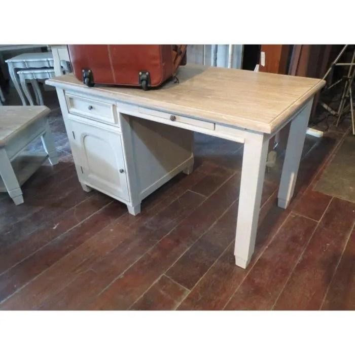 bureau bureau en chene 3 tiroirs charme