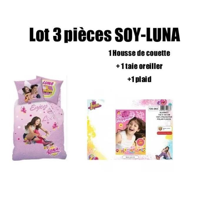 pack linge de lit soy luna lot de 3 pieces housse de couette tai