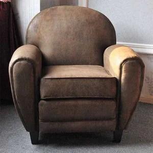 fauteuil club effet vieilli marron vintage cuba