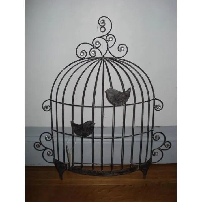 panneau dco murale mtal cage doiseau  Achat  Vente plaque de porte  lettre decorative