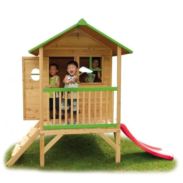 Chalet de jeux avec toboggan Robin des Bois  Achat  Vente maisonnette extrieure  Cdiscount
