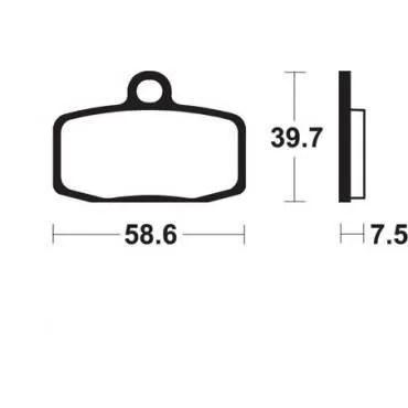 KTM SX85-12/13- PLAQUETTES DE FREIN AVANT BENDIX MOR385