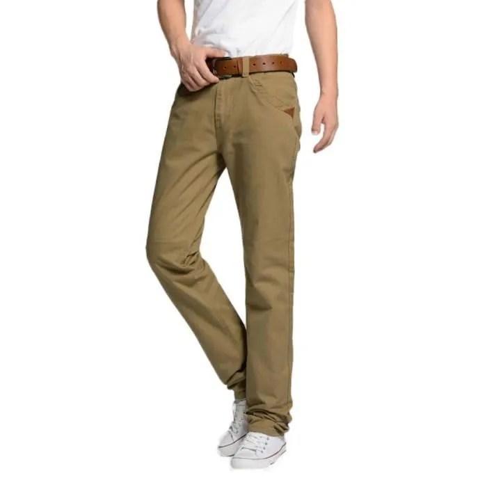 pantalon pantalon chino homme en coton coupe droite casual