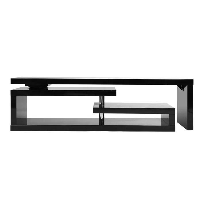 Miliboo Meuble TV Design Laqu Noir Pivotant Achat