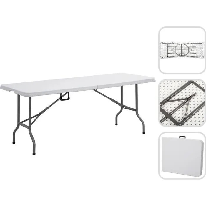 Grande Table pliante 240 cm  Table jardin  Achat  Vente table de jardin Grande Table pliante