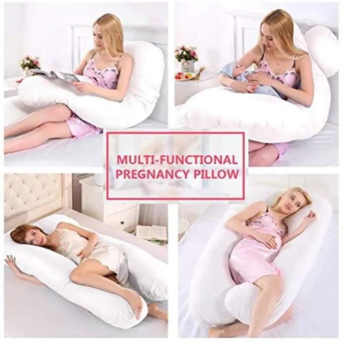 grand coussin de maternite 130 70cm oreiller de soutien forme de u oreiller de grossesse oreiller de corps pour les femmes enc
