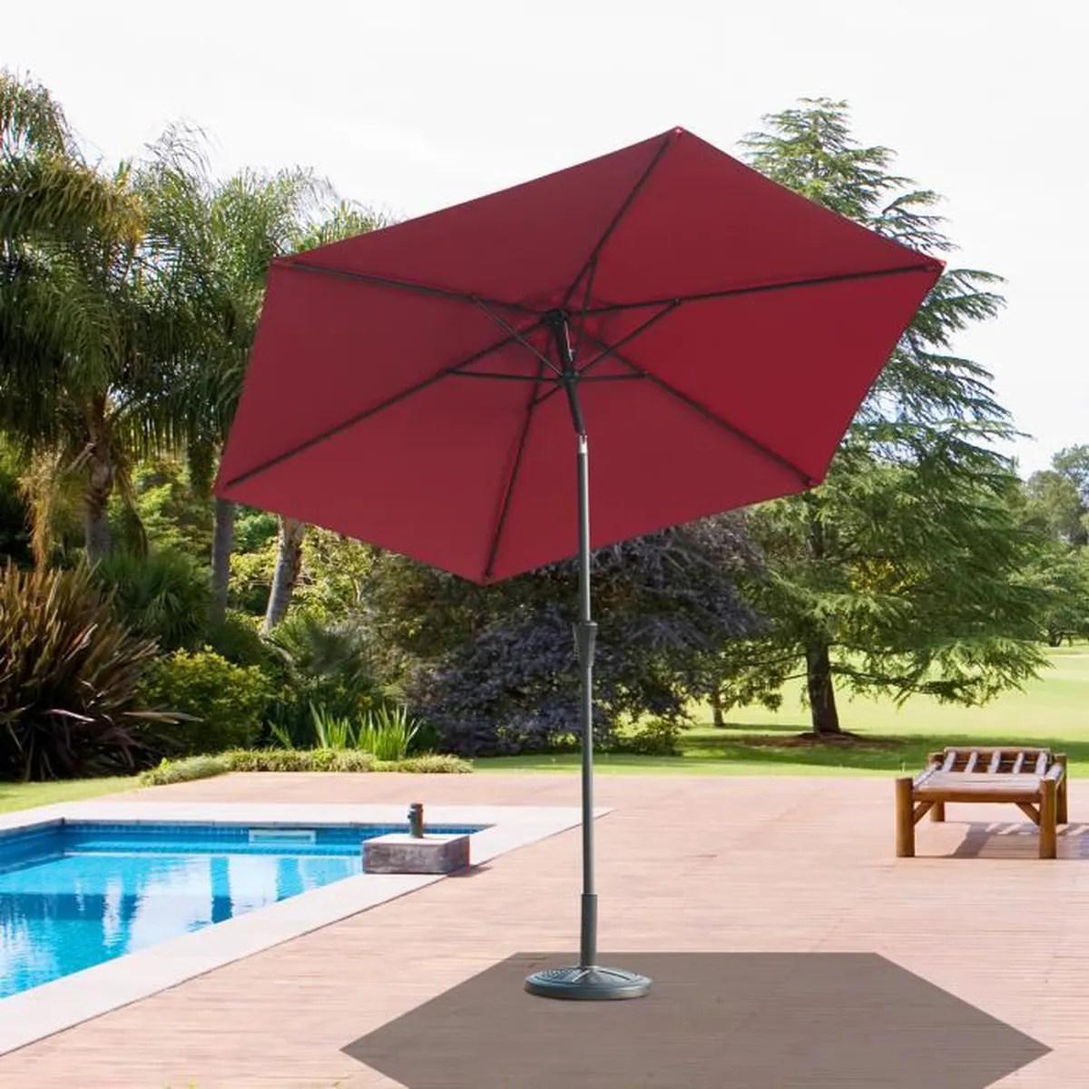 parasol outsunny parasol de jardin hydrofuge inclinable ma