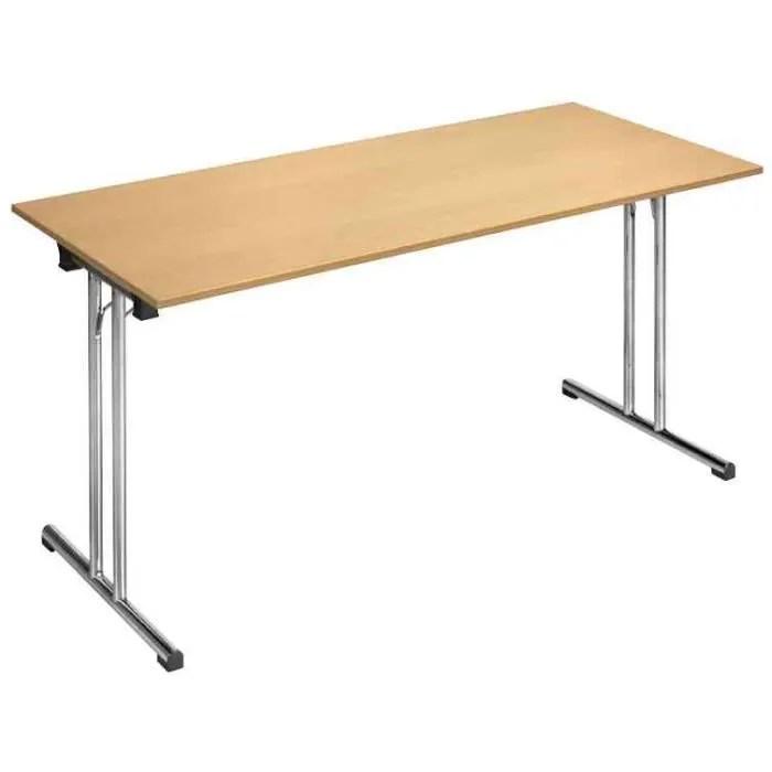 bureau table pliante chromeline1 tpch147h rectangulaire