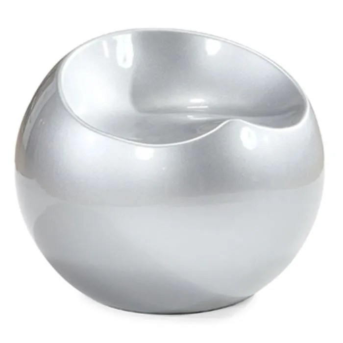 Pouf Ball chair argent  Achat  Vente pouf  poire ABS  Cdiscount