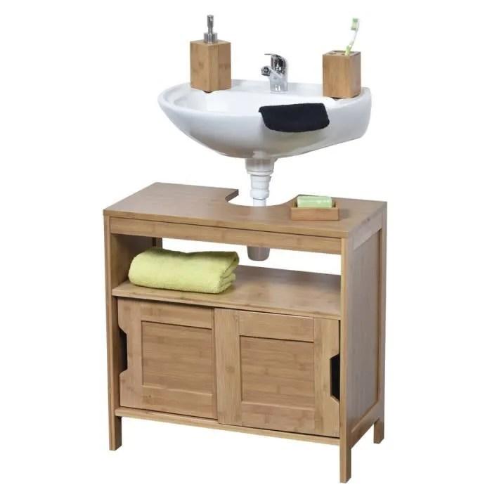 Meuble sous lavabo en bois  Achat  Vente Meuble sous lavabo en bois pas cher  Cdiscount