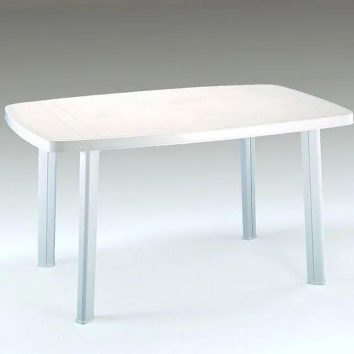 Table de jardin en plastique blanc  Achat  Vente Table de jardin en plastique blanc pas cher
