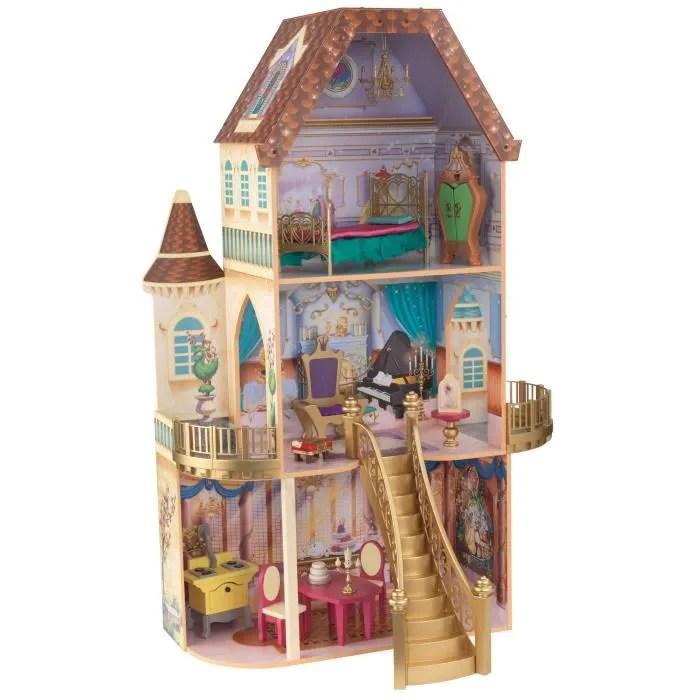 disney maison de poupees en bois la belle et la bete
