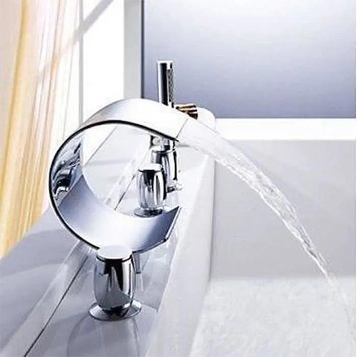 Mitigeur robinet Luxe Cascade Baignoire Baignoire  Achat  Vente robinetterie sdb Mitigeur