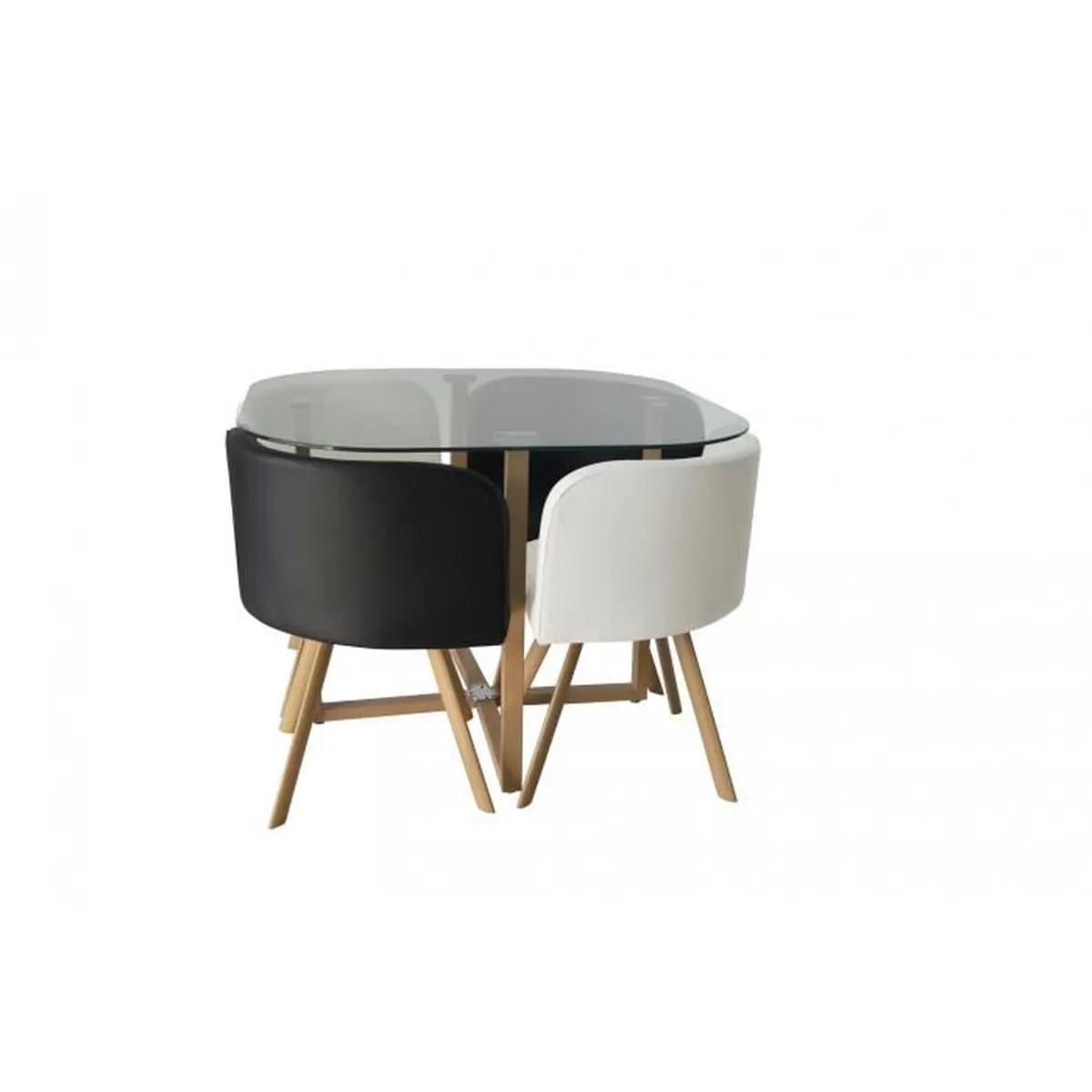 Ensemble Table Et Chaise Scandinave Noir
