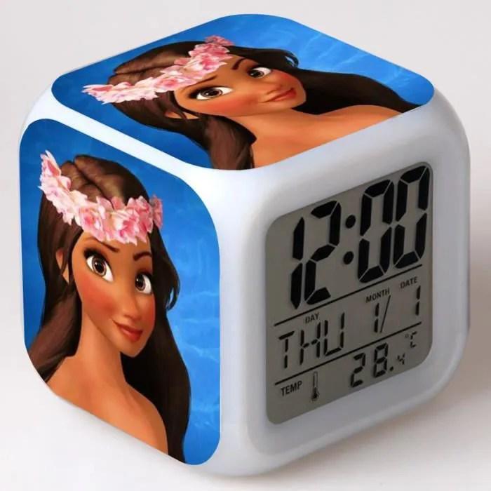 Rveil Enfant les jouet Moana Vaana Horloge Cube men 7