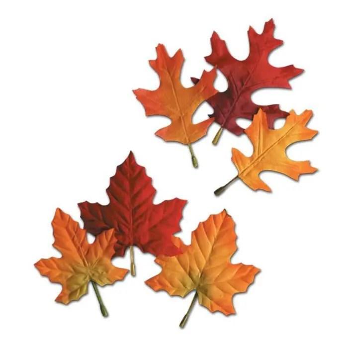 Fall Of The Leafe Wallpaper Sachet De 12 Feuilles D Automne Erable Et Chene Achat