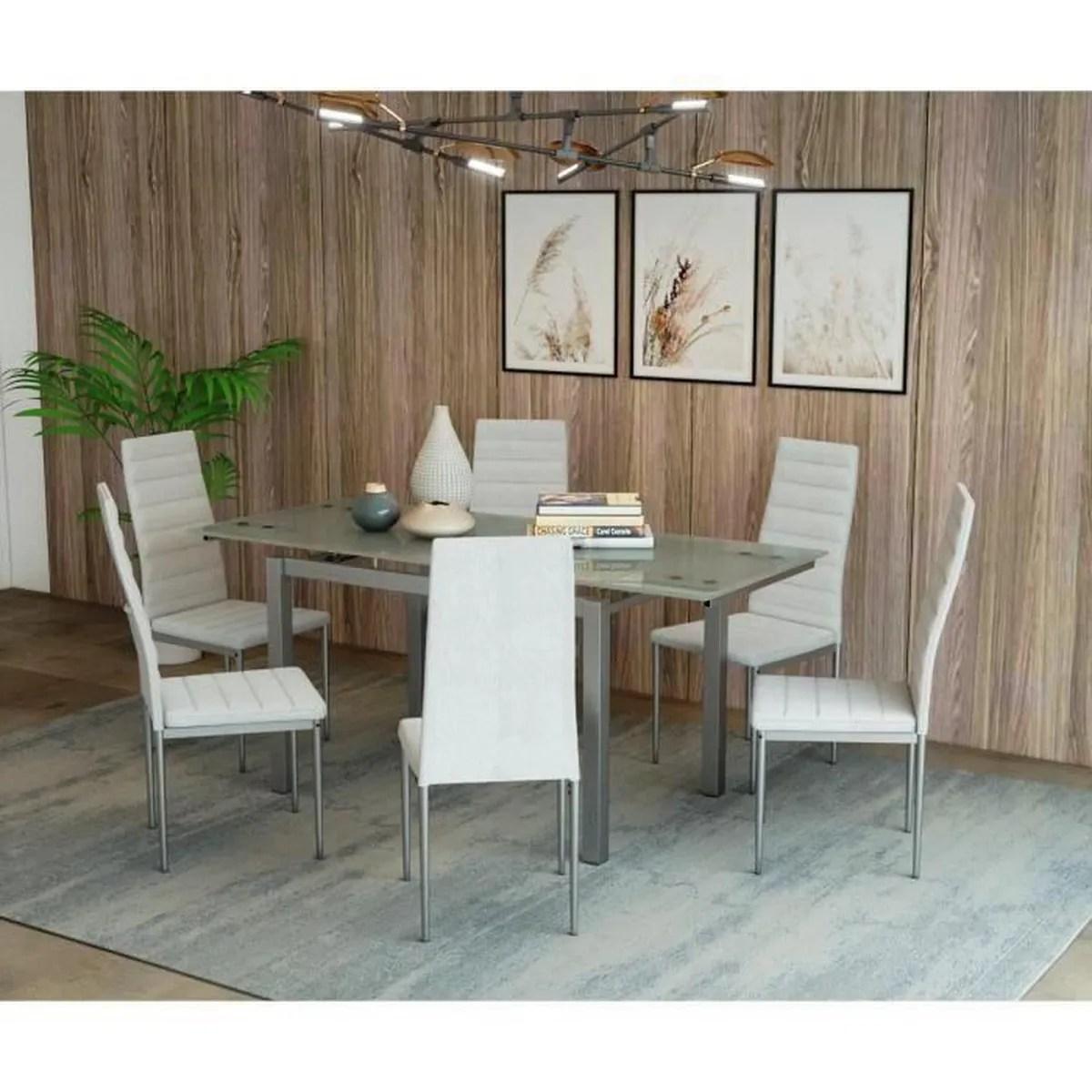 Table Extensible Avec Chaises