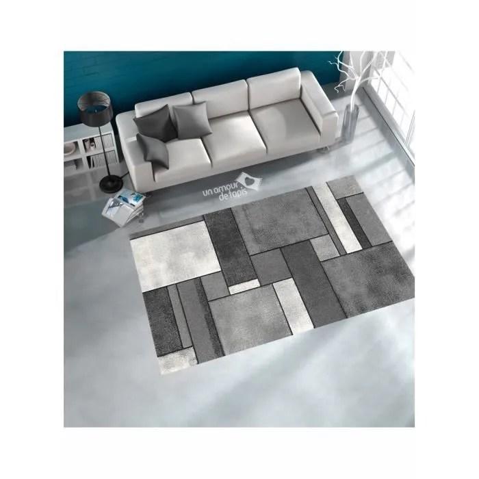 Tapis de salon BRILLANCE GEOMETRIQUE gris 160x230  Achat  Vente tapis  Cyber Monday le 2711