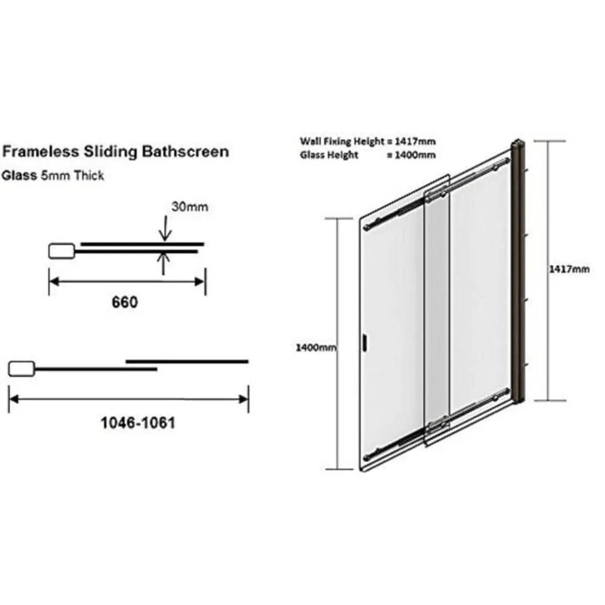Coram Showers Ssl2105cuc 1400 Mm X 6501065 Mm 2 Panel