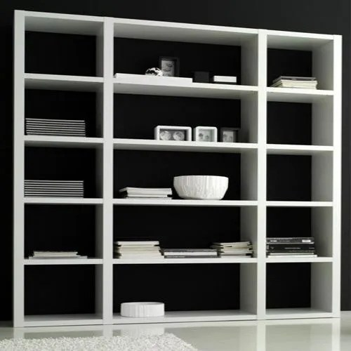 Bibliothque contemporaine Blanche  Achat  Vente meuble tagre Bibliothque contemporaine
