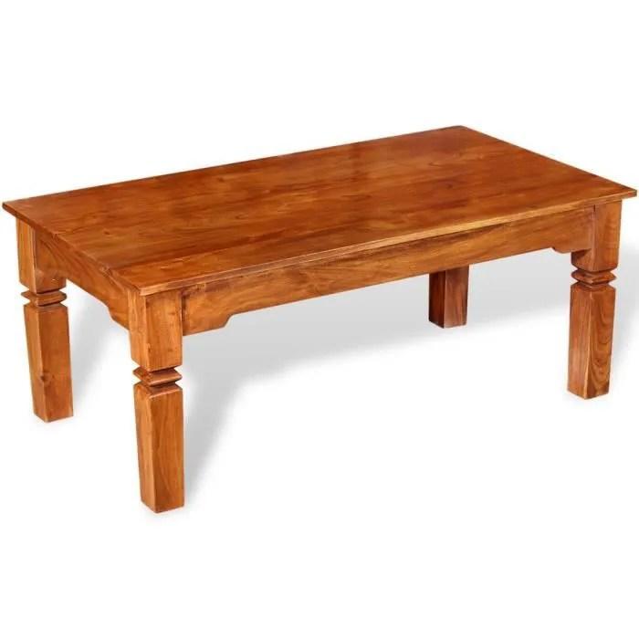 tables basses table basse bois massif 110 x 60 x 45 cm