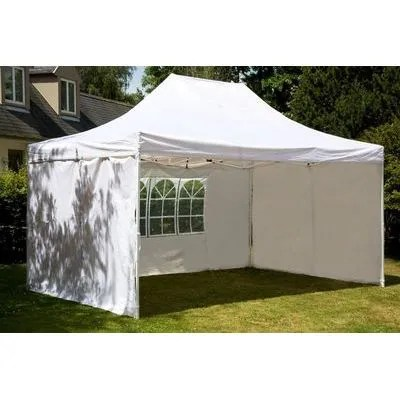 Tente de reception pliante 3x6 m blanc en polye  Achat  Vente tonnelle  barnum Tente de
