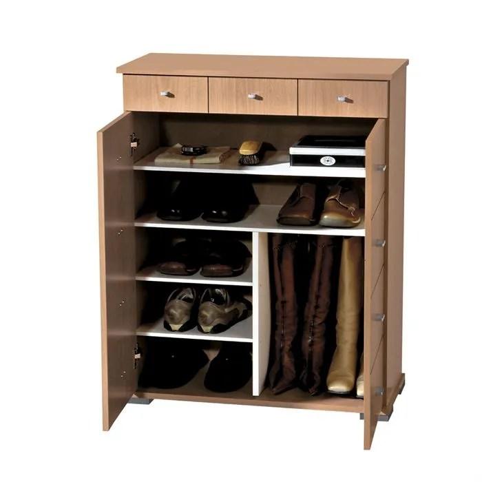 meuble a chaussures 215 jusqu a 30 paires hetre