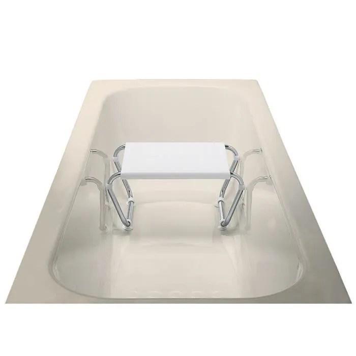 tabouret en polypropylene pour baignoire structure en acier 60 x 39 x 61 cm