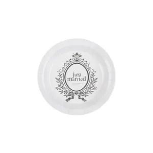 assiette jetable 10 assiettes jetables deco just married