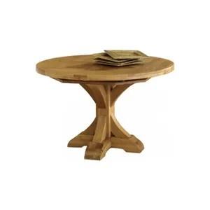table de cuisine ronde en verre pied central
