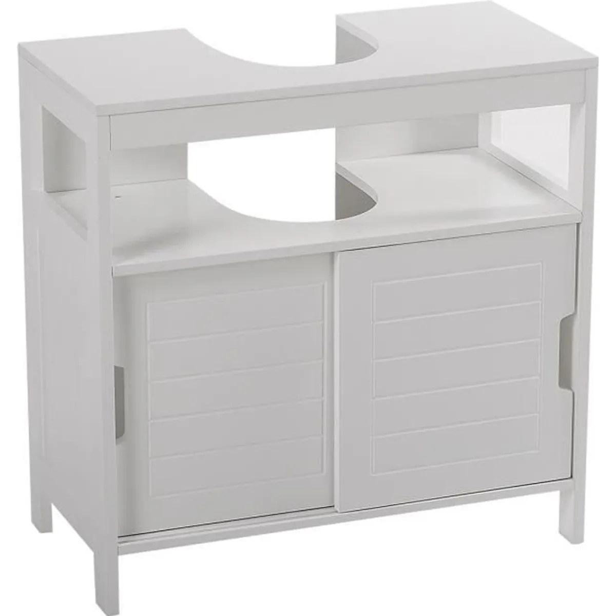 Meuble sous lavabo aqua blanc  Achat  Vente meuble