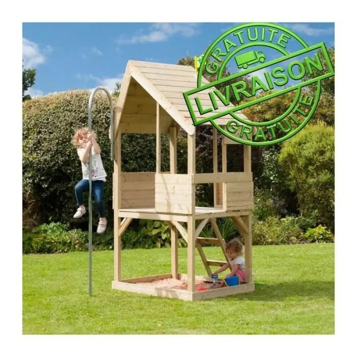 Cabane maison de jardin en bois pour enfants TP PLAY House modle Chalet  Achat  Vente