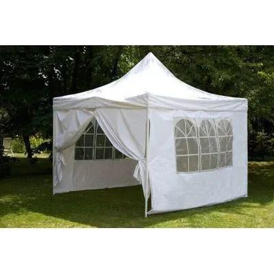 Tente de reception pliante 3x3 m blanc en polye  Achat  Vente tonnelle  barnum Tente de
