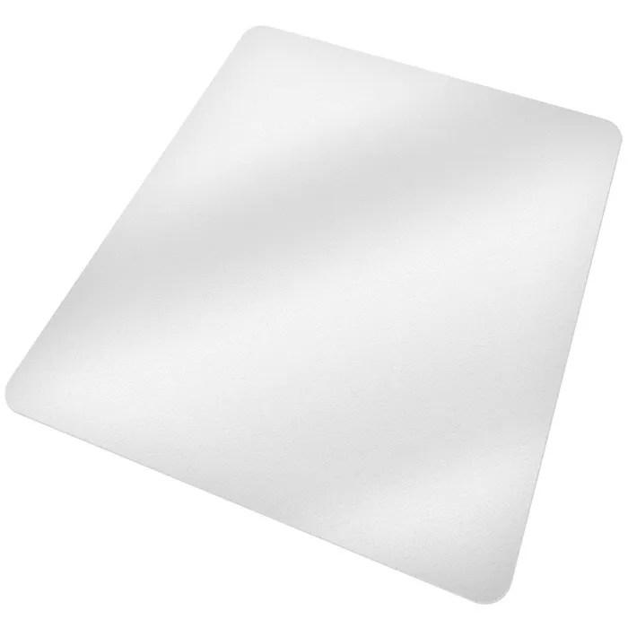 tectake tapis de bureau rectangulaire blanc transparent 150 cm x 120 cm en plastique