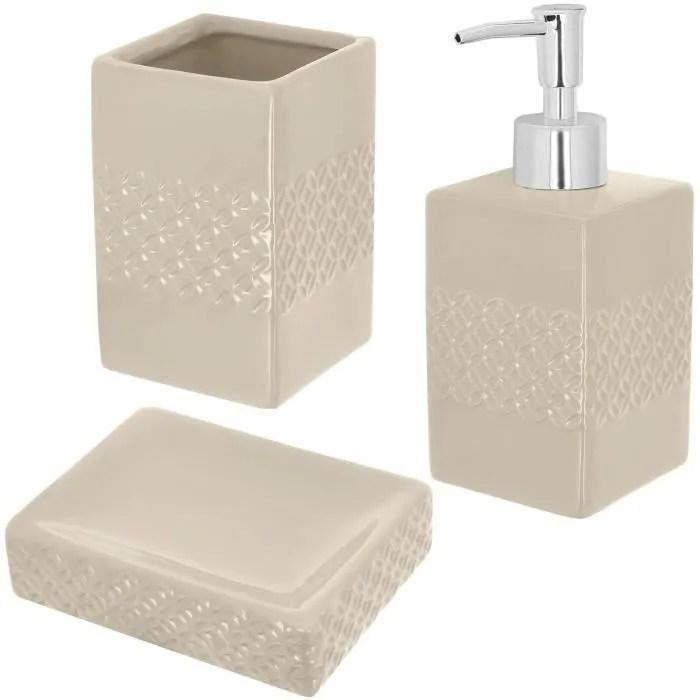 set accessoires salle de bain ceramique