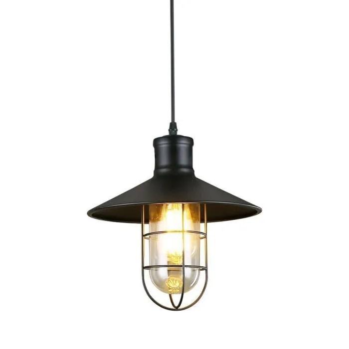 lampe pendante industrielle vintage grange lumiere