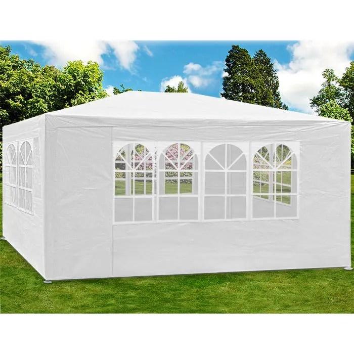 Tonnelle Tente de jardin 3x4 m 12 m Blanche  Achat  Vente tonnelle  barnum Tonnelle 3x4